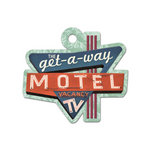 We R Memory Keepers - Travel Light Collection - Embossed Tags - Motel