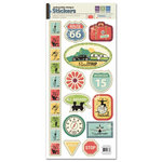 We R Memory Keepers - Travel Light Collection - Embossed Cardstock Stickers