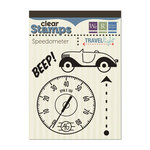 We R Memory Keepers - Travel Light Collection - Clear Acrylic Stamps - Speedometer