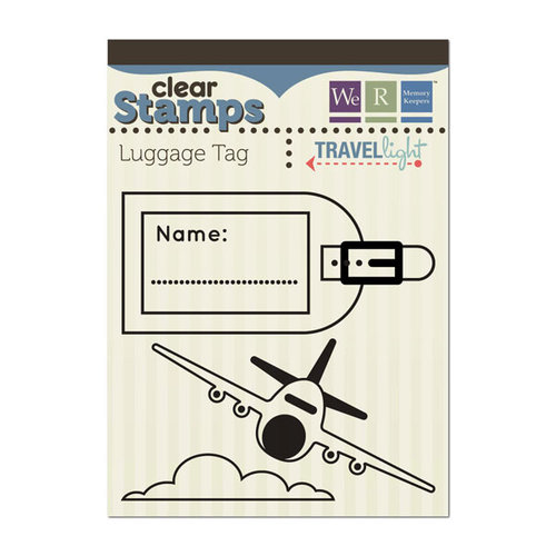 We R Memory Keepers - Travel Light Collection - Clear Acrylic Stamps - Luggage Tag