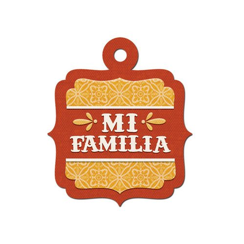 We R Memory Keepers - Fiesta Collection - Embossed Tags - Mi Familia