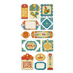 We R Memory Keepers - Fiesta Collection - Self Adhesive Layered Chipboard with Flocked Accents - Tags