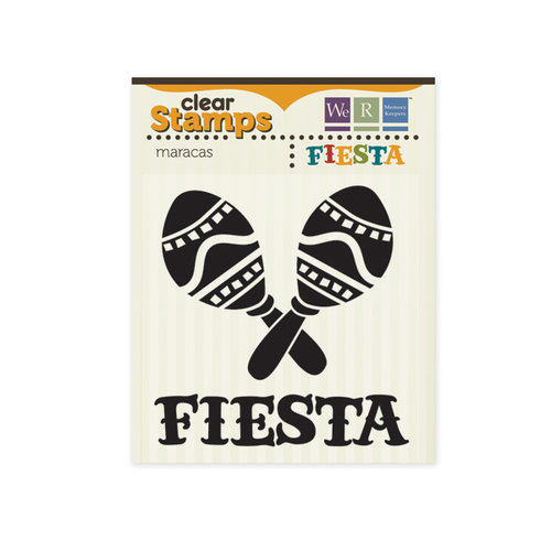 We R Memory Keepers - Fiesta Collection - Clear Acrylic Stamps - Maracas