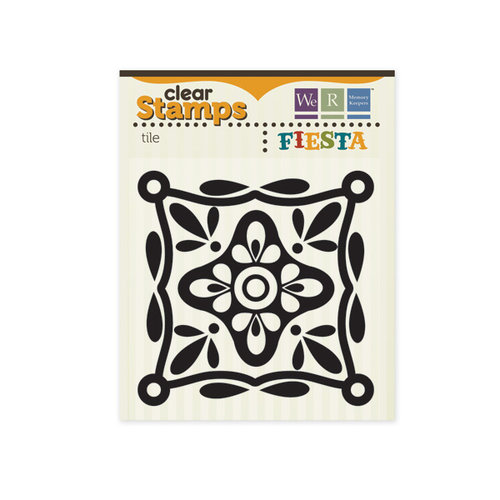 We R Memory Keepers - Fiesta Collection - Clear Acrylic Stamps - Tile