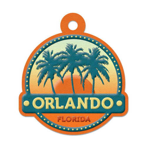 We R Memory Keepers - Destination Collection - Embossed Tags - Orlando