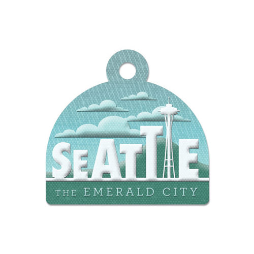 We R Memory Keepers - Destination Collection - Embossed Tags - Seattle