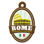 We R Memory Keepers - Destination Collection - Embossed Tags - Rome