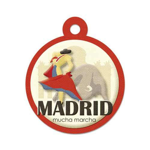 We R Memory Keepers - Destination Collection - Embossed Tags - Madrid