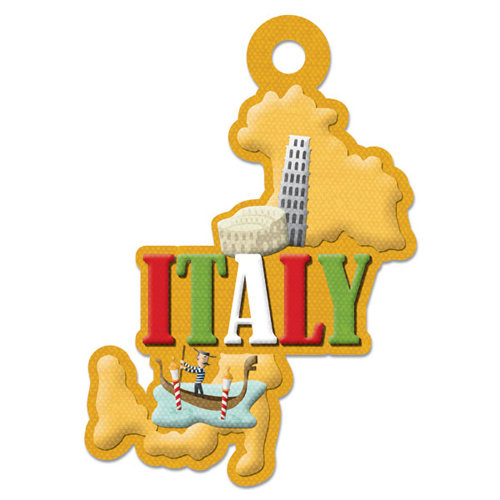 We R Memory Keepers - Destination Collection - Embossed Tags - Italy