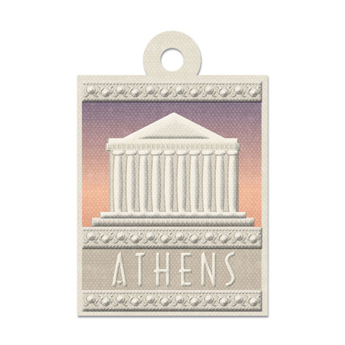 We R Memory Keepers - Destination Collection - Embossed Tags - Athens