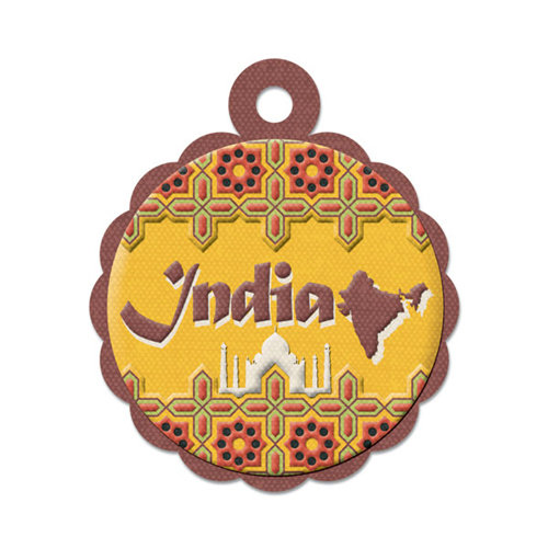 We R Memory Keepers - Destination Collection - Embossed Tags - India