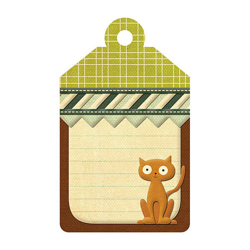 We R Memory Keepers - Friends Furever Collection - Embossed Tags - Cat Notes