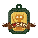 We R Memory Keepers - Friends Furever Collection - Embossed Tags - I Heart Cats