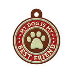 We R Memory Keepers - Friends Furever Collection - Embossed Tags - My Dog is My Best Friend