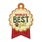 We R Memory Keepers - Friends Furever Collection - Embossed Tags - World's Best Pet