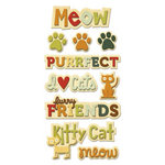 We R Memory Keepers - Friends Furever Collection - Self Adhesive Layered Chipboard with Glitter Accents - Words