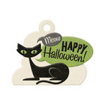 We R Memory Keepers - Spookville Collection - Halloween - Embossed Tags - Black Cat