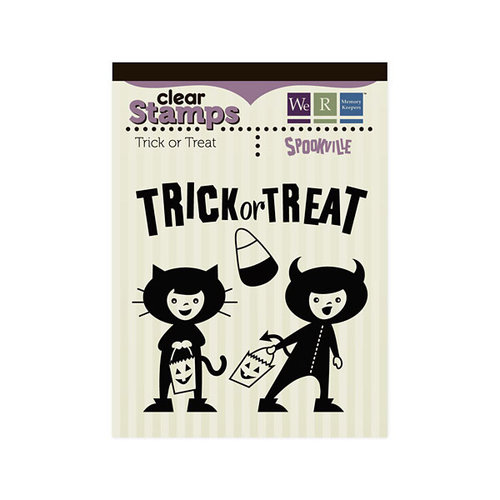 We R Memory Keepers - Spookville Collection - Halloween - Clear Acrylic Stamps - Trick or Treat