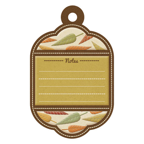 We R Memory Keepers - Autumn Splendor Collection - Embossed Tags - Autumn Notes