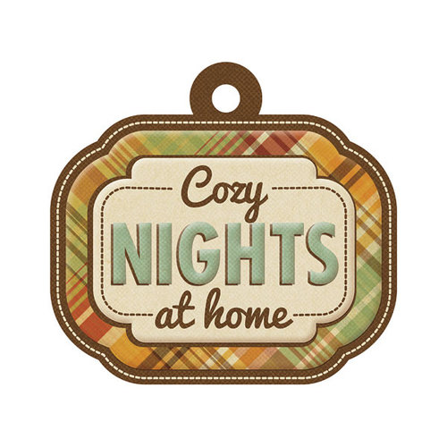 We R Memory Keepers - Autumn Splendor Collection - Embossed Tags - Cozy Nights