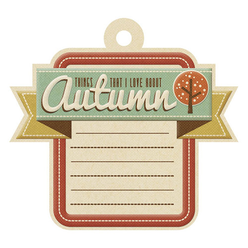 We R Memory Keepers - Autumn Splendor Collection - Embossed Tags - Love About Autumn