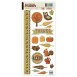 We R Memory Keepers - Autumn Splendor Collection - Embossed Cardstock Stickers