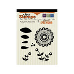 We R Memory Keepers - Autumn Splendor Collection - Clear Acrylic Stamps - Autumn Flowers