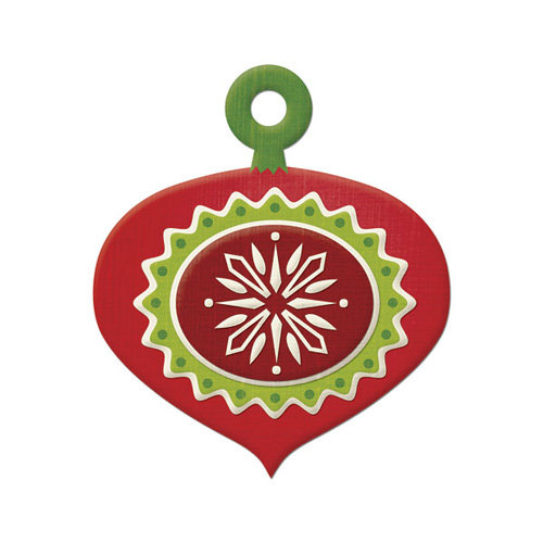 We R Memory Keepers - Peppermint Twist Collection - Christmas - Embossed Tags - Ornament