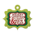 We R Memory Keepers - Peppermint Twist Collection - Christmas - Embossed Tags - Merry Christmas