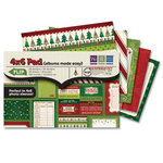 We R Memory Keepers - Peppermint Twist Collection - Christmas - 4 x 6 Albums Made Easy Pad
