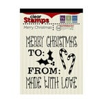 We R Memory Keepers - Peppermint Twist Collection - Christmas - Clear Acrylic Stamps - Merry Christmas