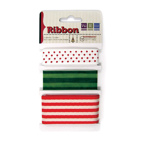 We R Memory Keepers - Peppermint Twist Collection - Christmas - Ribbon