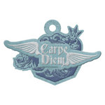 We R Memory Keepers - Vintage T Collection - Embossed Tags - Carpe Diem