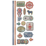 We R Memory Keepers - Vintage T Collection - Embossed Cardstock Stickers