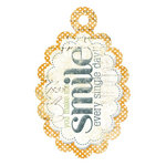 We R Memory Keepers - Good Day Sunshine Collection - Embossed Tags - Smile