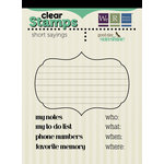 We R Memory Keepers - Good Day Sunshine Collection - Clear Acrylic Stamps - Short Sayings
