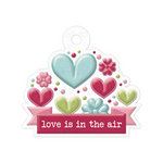 We R Memory Keepers - Love Struck Collection - Embossed Tags - Love is in the Air