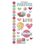 We R Memory Keepers - Love Struck Collection - Embossed Cardstock Sticker
