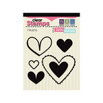 We R Memory Keepers - Love Struck Collection - Clear Acrylic Stamps - Hearts