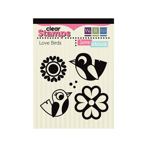 We R Memory Keepers - Love Struck Collection - Clear Acrylic Stamps - Love Birds