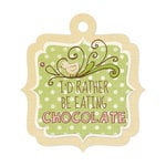 We R Memory Keepers - Cotton Tail Collection - Embossed Tags - Chocolate