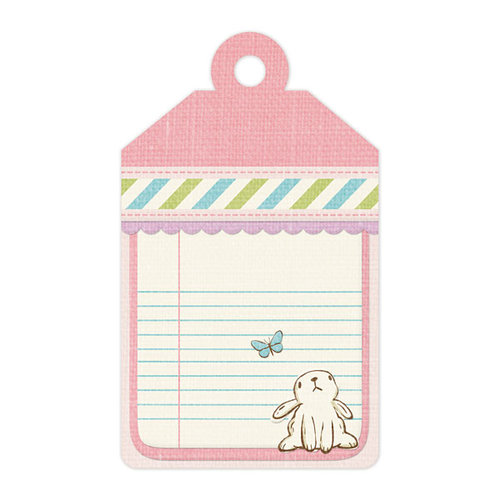 We R Memory Keepers - Cotton Tail Collection - Embossed Tags - Bunny
