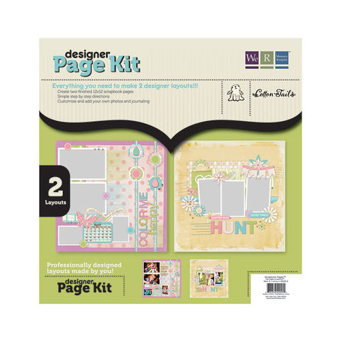 We R Memory Keepers - Cotton Tail Collection - 12 x 12 Designer Page Kit