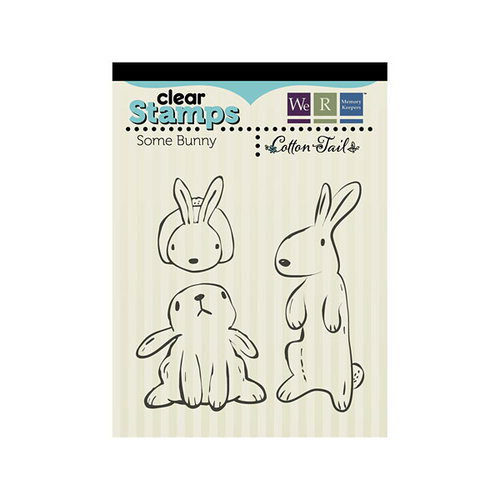 We R Memory Keepers - Cotton Tail Collection - Clear Acrylic Stamps - Some Bunny