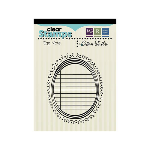 We R Memory Keepers - Cotton Tail Collection - Clear Acrylic Stamps - Egg Notes