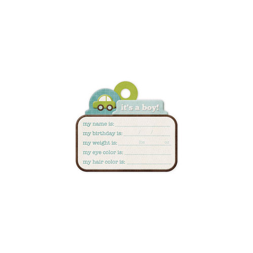 We R Memory Keepers - Baby Mine Collection - Embossed Tags - It's a Boy