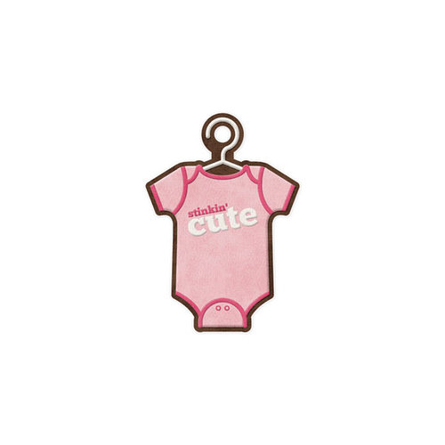 We R Memory Keepers - Baby Mine Collection - Embossed Tags - Cute Girl
