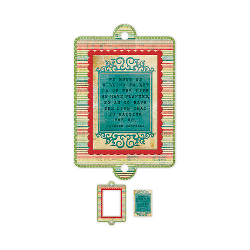 We R Memory Keepers - Anthologie Collection - Embossed Tags - Mini Frames - Life Quote