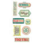 We R Memory Keepers - Anthologie Collection - Self Adhesive Layered Chipboard with Glitter Accents - Words
