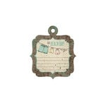 We R Memory Keepers - Down the Boardwalk Collection - Embossed Tags - Beach Day